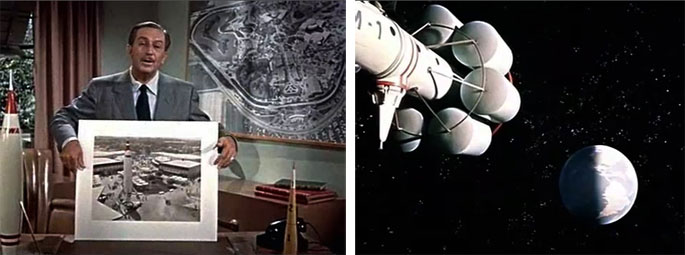 "(9) Walt Disney présentant Tomorrowland. (10). Vol habité vers la Lune, ""Man and the Moon"", 1955 (vidéogramme)."