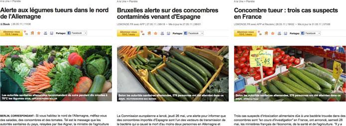 Le concombre, image de l'insavoir journalistique