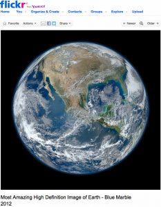 Blue Marble. La terre vue de l'espace