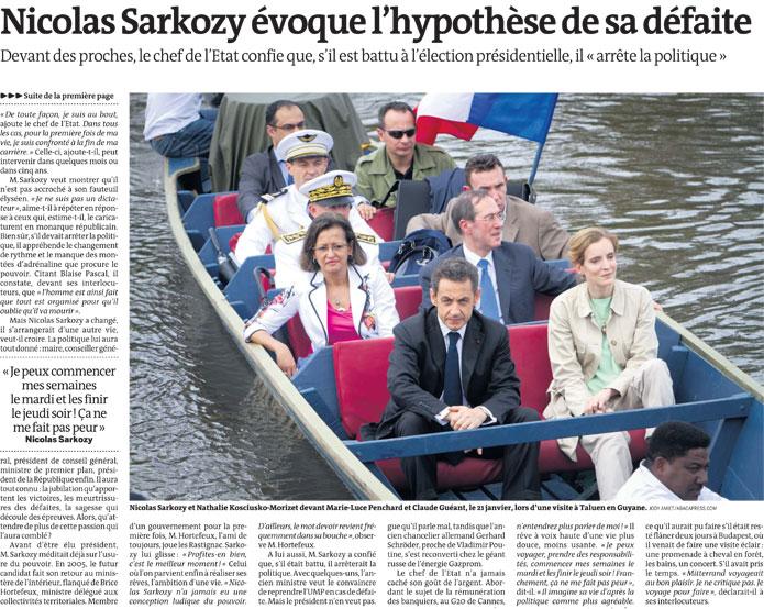 Sarkozy en pirogue, une image innocente?