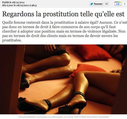 Des jambes de prostituées